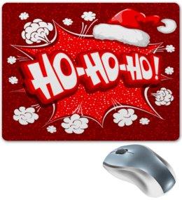 """Коврик для мышки """"Ho Ho Ho"""" - рождество, новый год, зима, красный, санта"""