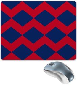 """Коврик для мышки """"Цветные ромбы"""" - узор, красный, графика, квадраты, ромбы"""