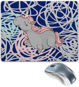 """Коврик для мышки """"Единорог"""" - цветы, лошадь, мульт, кони, единорог"""