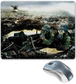 """Коврик для мышки """"World war"""" - игры, армия, война, солдат, battlefield"""