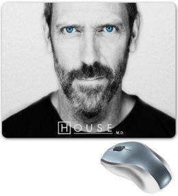 "Коврик для мышки ""Доктор Хаус - Хью Лори (James Hugh Calum Laurie)"" - доктор хаус, hugh laurie, хью лори, house"