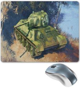 """Коврик для мышки """"танк т 34"""" - танк, ворлд оф танкс, world of tanks, tank"""