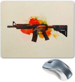 """Коврик для мышки """"M4A4   Howl"""" - компьютерные игры, counter strike, cs go, контра, m4a4"""