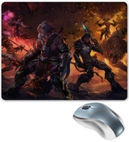 "Коврик для мышки ""Diablo III"" - blizzard, диабло, близзард, варвар, barbarian"