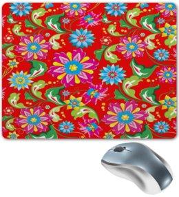 """Коврик для мышки """"Цветочный узор"""" - цветы, природа, хохлома, роспись, букет"""