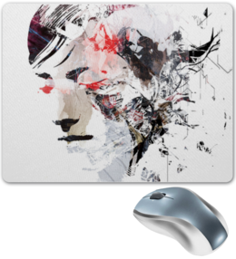 "Коврик для мышки ""Art Face"" - арт, face, оригинально, fashion"