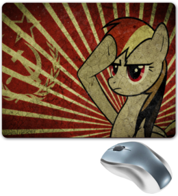 "Коврик для мышки ""Soviet Dash"" - рисунок, pony, rainbow dash, mlp, пони, magic"