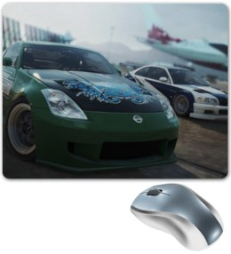 "Коврик для мышки ""Need for Speed"" - need for speed, nissan 350z, most wanted, bmw m3 gtr"