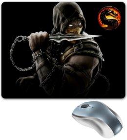 """Коврик для мышки """"Mortal Kombat"""" - скорпион, mortal kombat, mk, иры"""
