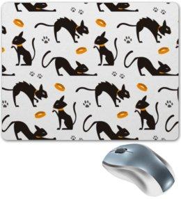 """Коврик для мышки """"Чёрные кошки"""" - кот, кошка, животные, коты, котёнок"""