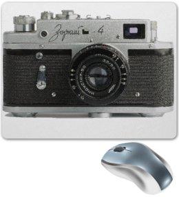 """Коврик для мышки """"Фотоаппарат Зоркий-4"""" - фотоаппарат, алина макарова, зоркий"""