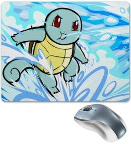 "Коврик для мышки ""Сквиртл"" - нинтендо, nintendo, pokemon go, покемон го, squirtl"