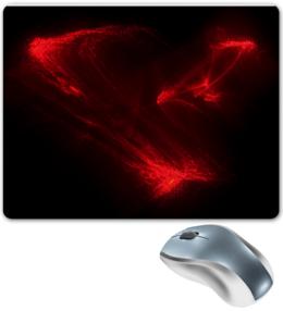 """Коврик для мышки """"Лазерный узор 2"""" - узор, красный, абстракция, абстрактный, странный, лазер, лазерный, причудливый"""