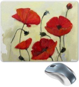 """Коврик для мышки """"Маки - акварель"""" - цветы, poppy"""