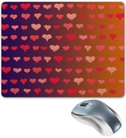 """Коврик для мышки """"Сердечки """" - сердце, любовь, сердечки, день валентина, день влюбленных"""