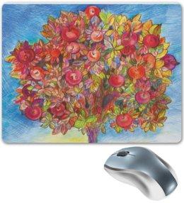 """Коврик для мышки """"Яблоки"""" - цветы, листья, деревья, яркий, дерево, яблоки, яблоня"""