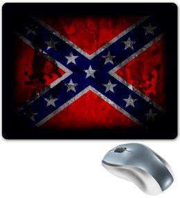 "Коврик для мышки ""Флаг конфедерации США"" - война, америка, сша, конфедерация, флаг конфедерации"