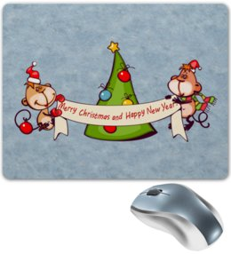 """Коврик для мышки """"Новый год"""" - праздник, новый год, подарок, с новым годом, елка"""