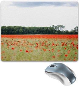 """Коврик для мышки """"Маковое поле в Англии"""" - цветы, мак, алина макарова, маковое поле"""