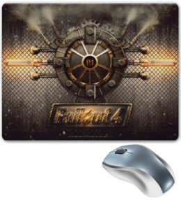 "Коврик для мышки ""Fallout 4 steampank"" - fallout, steampank"