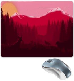 """Коврик для мышки """"Природа"""" - животные, лес, деревья, природа, горы"""