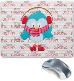 """Коврик для мышки """"Christmas"""" - новый год, сова, рождество, совы, christmas"""