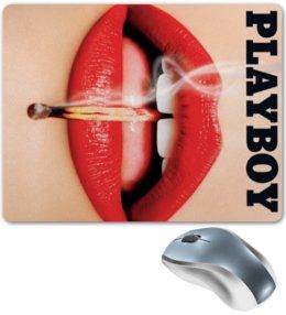 """Коврик для мышки """"Playboy Губы"""" - playboy, плейбой, плэйбой, губы, девушка"""