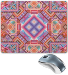 """Коврик для мышки """" с абстрактным рисунком"""" - узор, фиолетовый, абстракция, фигуры, текстура"""