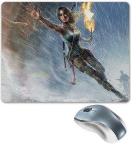"Коврик для мышки ""Лара Крофт"" - девушка, lara croft, tomb raider, лара крофт, факел"