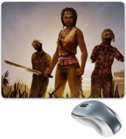 "Коврик для мышки ""Ходячие мертвецы"" - ходячие мертвецы, zombie, the walking dead, мишонн, оружие"