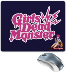 "Коврик для мышки ""Angel Beats! Girls Dead Monster"" - angel, monster, girl, монстр, dead, manga, beats, ангельские ритмы, iwasawa, masami"