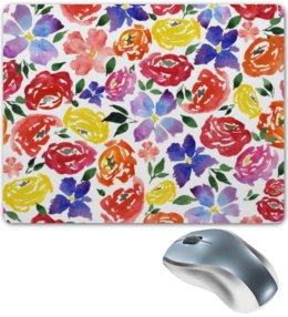 """Коврик для мышки """"цветочки"""" - лето, цветы, узор, природа, цветочки"""