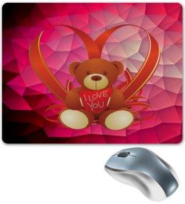 """Коврик для мышки """"Плюшевый мишка"""" - сердце, любовь, медведь, мишка, игрушка"""
