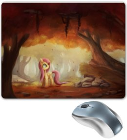 "Коврик для мышки ""Fluttershy.Wonderful forest"" - my little pony, friendship is magic, fluttershy, forest, fall, beautiful"