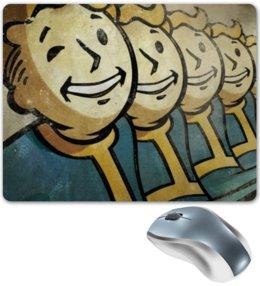 """Коврик для мышки """"Fallout """" - постапокалипсис, vault boy, убежище, вольт бой"""