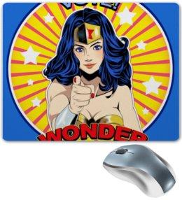 "Коврик для мышки ""WONDER WOMAN"" - чудо-женщина, wonder woman, justice league, лига справедливости"