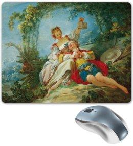 """Коврик для мышки """"Счастливые любовники (картина Фрагонара)"""" - картина, фрагонар"""