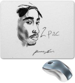 """Коврик для мышки """"2Pac """" - арт, популярные, в подарок, 2pac, тупак, 2пак, tupac shakur, west coast"""