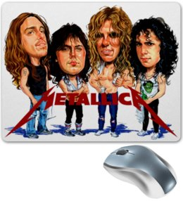 "Коврик для мышки ""Metallica"" - музыка, music, metal, рок, rock, heavy metal, metallica, фанат, метал, металлика"