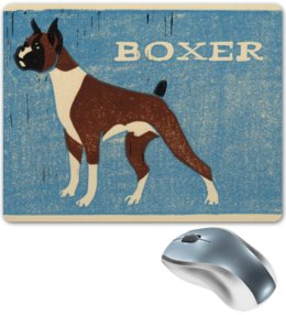 "Коврик для мышки ""boxer"" - boxer, боксёр, dog"