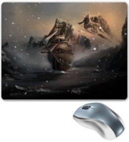 """Коврик для мышки """"Скайрим"""" - снег, корабль, skyrim, скайрим, winterhold"""
