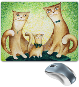 "Коврик для мышки ""Кошки"" - кот, кошки"