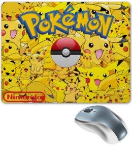 """Коврик для мышки """"Pokemon Go"""" - желтый, pokemon, пикачу, покемоны, покебол"""
