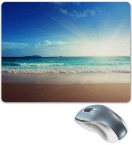 """Коврик для мышки """"солнечное море"""" - лето, summer, море, sun, пляж, sea, beach"""