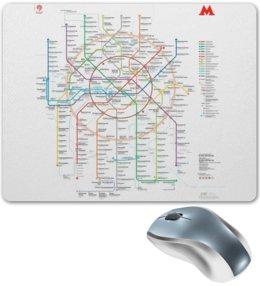"""Коврик для мышки """"Метро Москвы"""" - карта, переход, схема, станция, двери закрываются"""