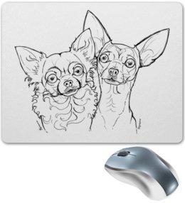 """Коврик для мышки """"ЧИХУАшки"""" - собаки, чихуахуа, мимими, авторское, породы"""