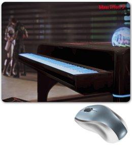"""Коврик для мышки """"Mass Effect 3"""" - поцелуй, mass effect 3, пианино, шепард, лиара т'сони"""