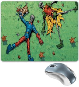"Коврик для мышки ""бэтмен и робин"" - comics, batman, бэтмен, robin, робин"