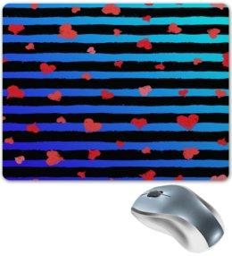 """Коврик для мышки """"Узор сердечек"""" - сердце, любовь, сердечки, день валентина, день влюбленных"""