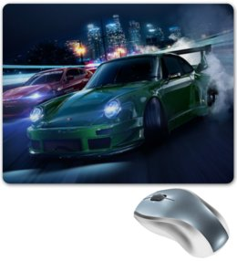 "Коврик для мышки ""Гонки"" - город, скорость, need for speed, тюнинг, гонка"